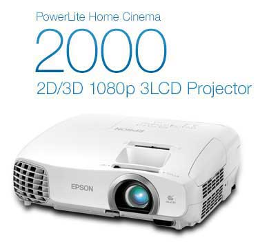 PowerLite Home Cinema 2000 2D/3D 1080p 3LCD Projector