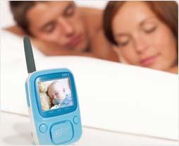 Infant Optics DXR-5 monitors baby while couple sleeps