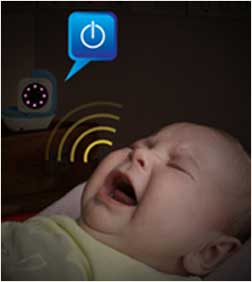 Infant Optics DXR-5 reacts to baby crying